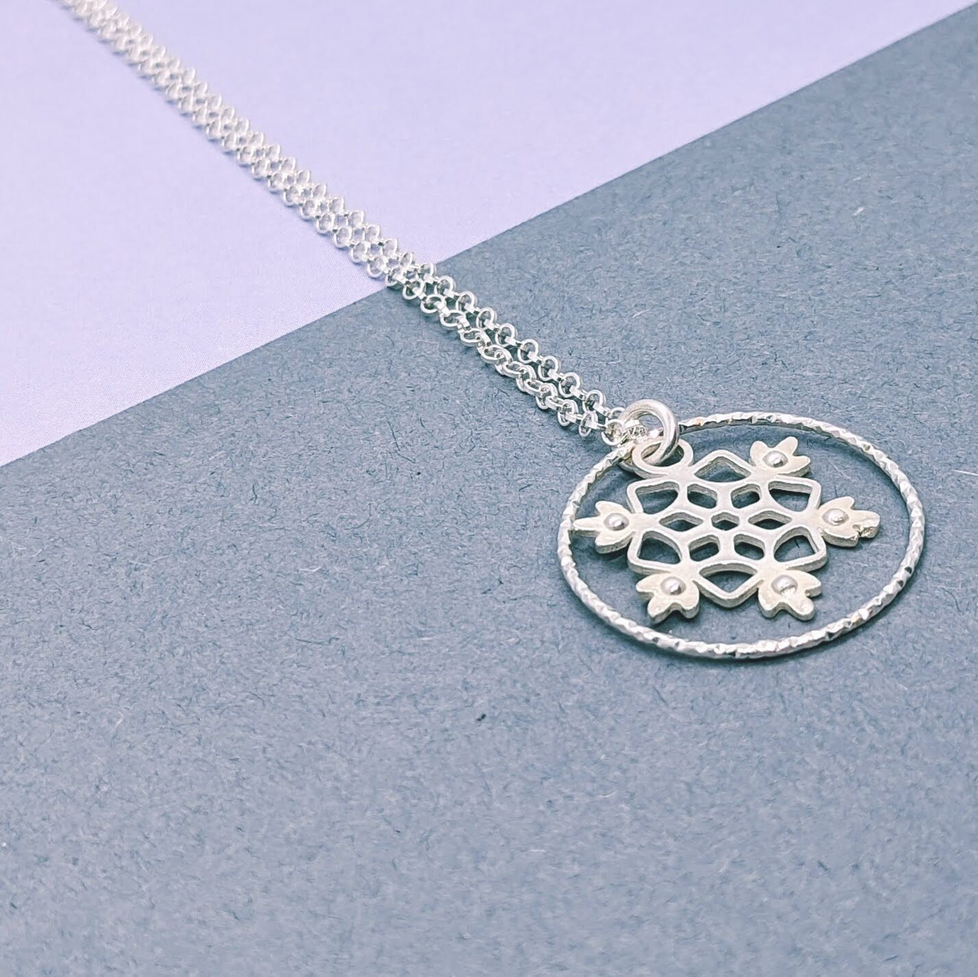 Snowflake Charm Necklace